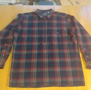 Vintage Pendleton zippers front pullover.